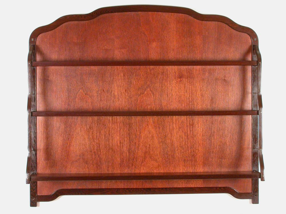 113 MAHOGANY CHINA DISPLAY