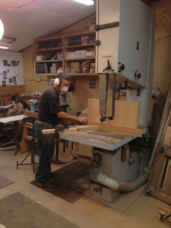 resawing at 36 inch bandsaw