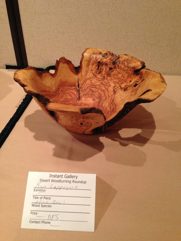 Beautiful Olive wood bowl turned by Ken Lappegard in the Instant Gallery at DWR