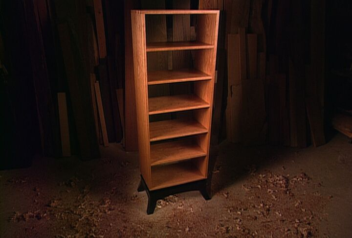 603 ASIAN INSPIRED OPEN BOOKCASE
