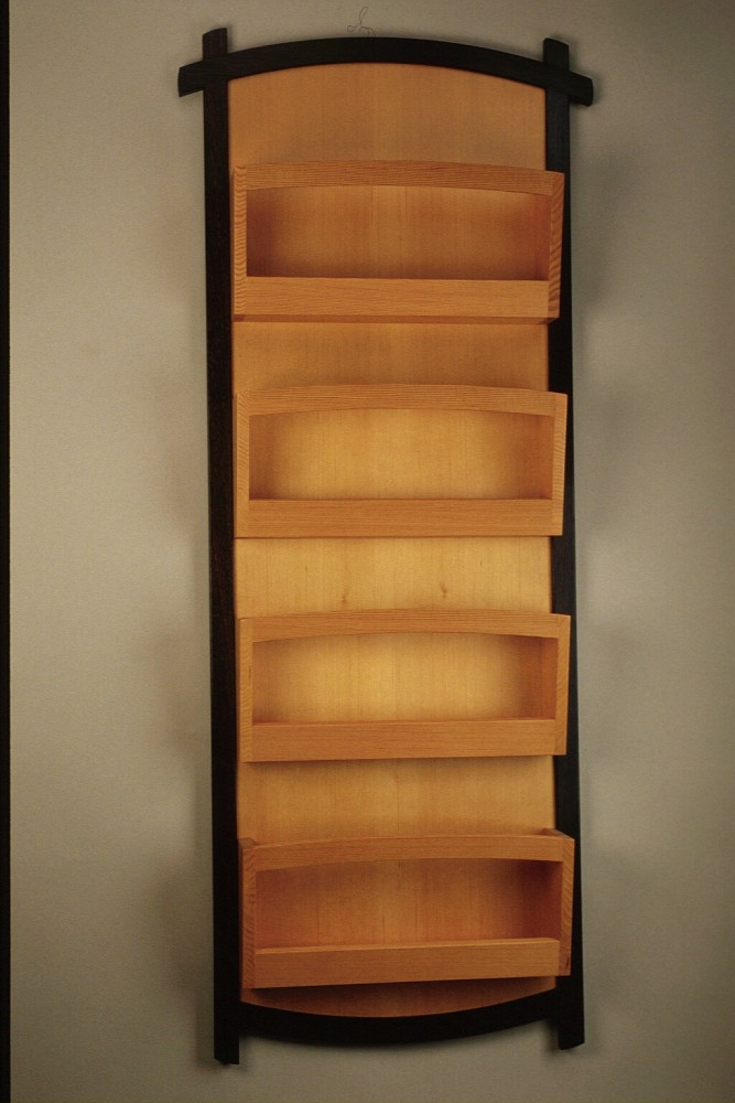 604 Wall Mounted Magazine Rack