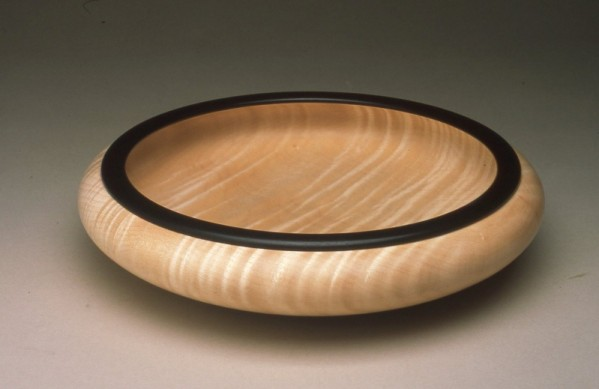 Turned Bowl with Ebony Rim