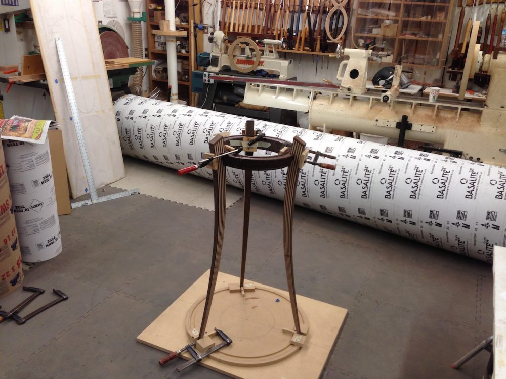 bentwood laminated stand