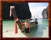 cat_001 DAVID with long boat Phi Phi Island, Thailand-tn