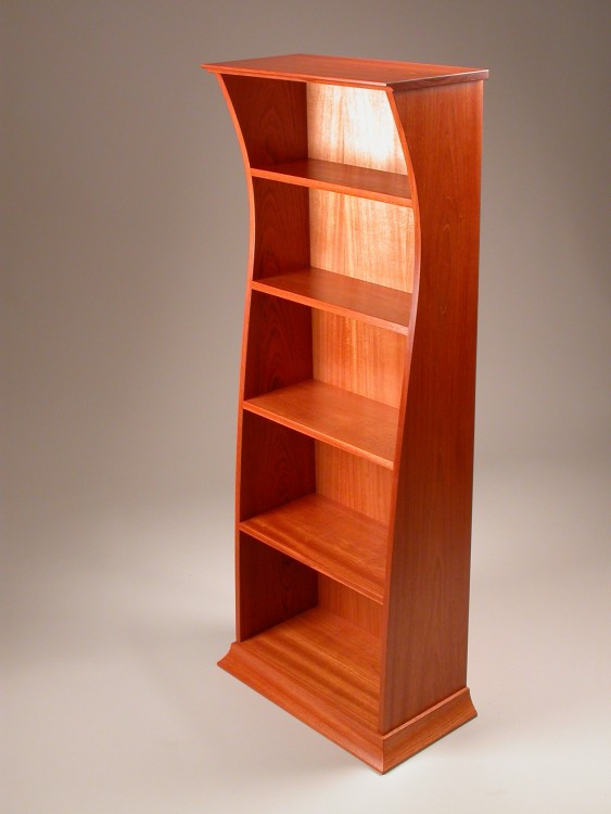 501 Contemporary Jatoba Bookcase