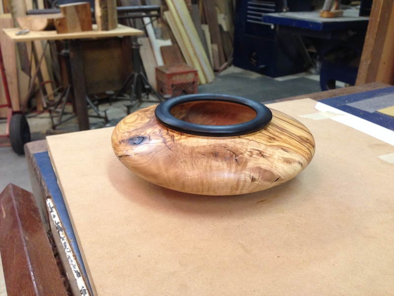 BOWL WITH EBONY RIM