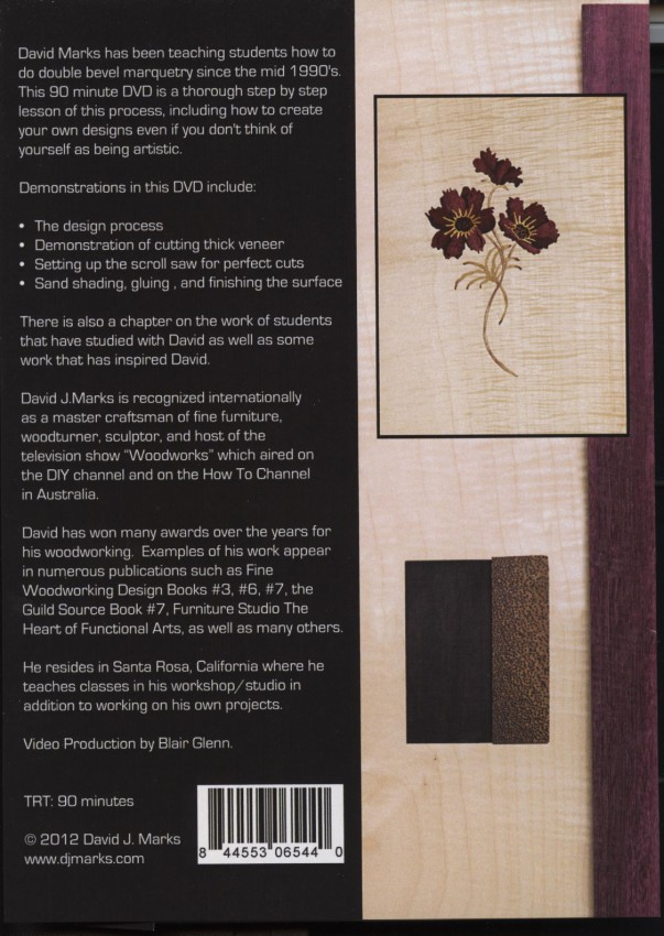 Marquetry DVD Back Cover